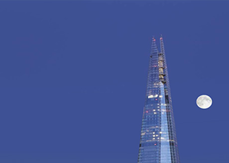 The Shard. Architect: Renzo Piano; Lighting Consultant: ARUP Lighting